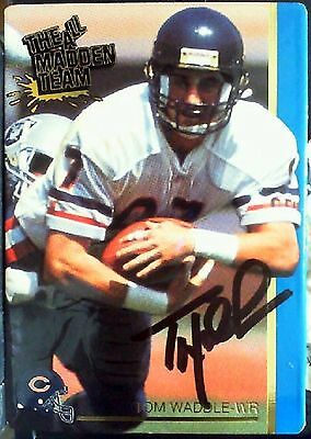 Tom Waddle Autographed 1992 Action Packed Card No. 45