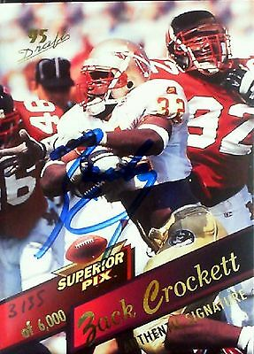 Zack Crockett Autographed 1995 Superior Pictures Card No. 102