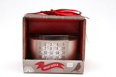 Lovely  Advent Candle in  Glass Bowl by Marks & Spencer Unwanted Gift