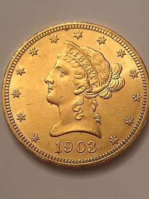 1903 $10 Liberty Head Gold Coin