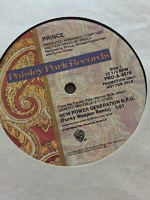 """Prince & The NPG - The New Power Generation - 12"""" Single - PROMO"""