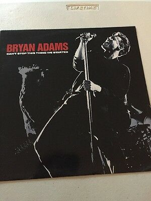 """Bryan Adams- Can't Stop This Thing We Started - 12"""" Single - Etched Vinyl"""