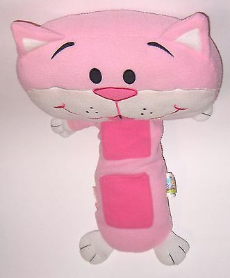 Seat Pets  Stuffed Kitty  Attach To Seat Belt Safely  Has Pockets For Toys