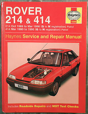 Haynes Workshop Manual Rover 214 & 414 from 1989 to 1996, Petrol.