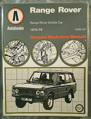 Autobooks Workshop Manual Range Rover from 1970 to 1979 Petrol.