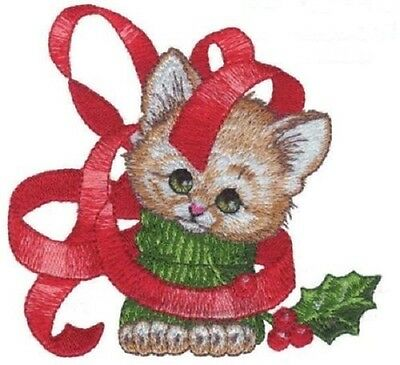 18 Christmas Kitten Designs for Machine Embroidery