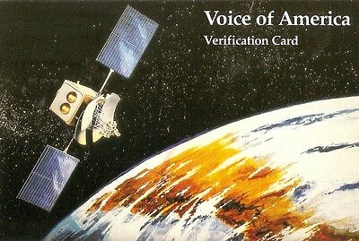 UNITED STATES USA - QSL VOA The Voice of America 1984