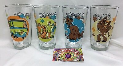 Set of 4 Vintage Hanna Barbera Scooby-Doo Drinking Glasses 16 ounce