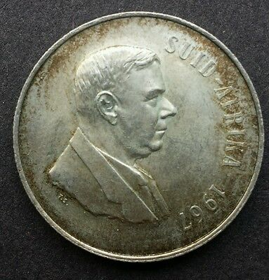 1967 One Rand, R1 South Africa / Suid Arika Silver Coin - Afrikaans