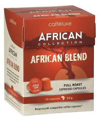 100 x Caffeluxe AFRICAN 'African'- Nespresso Compatible Coffee Capsules