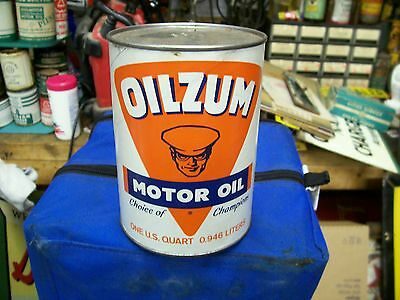 Oilzum Motor Oil Quart Can Early