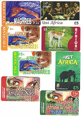 African theme phonecards 8.