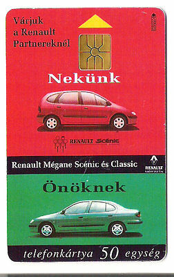 Renault cars Hungary chip phonecard used
