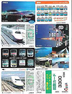 Japan 8 city used travel cards 6141.
