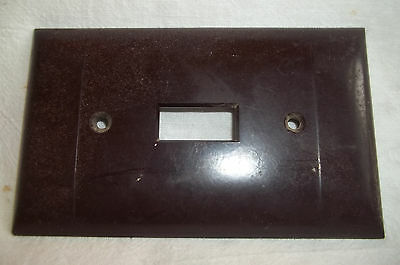 Vintage Sierra Electric P-1 Electric Switch Cover, Brown