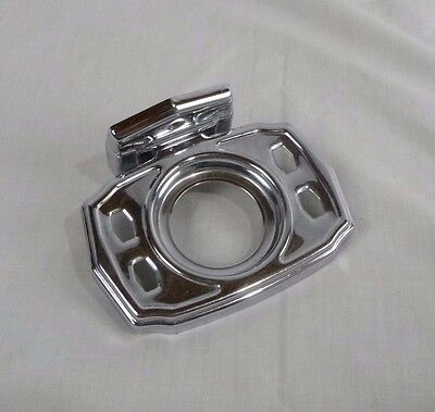 Vtg Mid Century Autoyre Chrome Toothbrush Tumbler Holder Reclaimed
