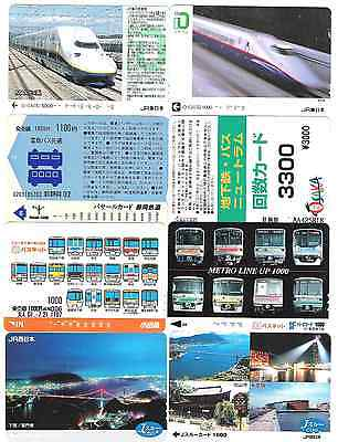 Japan 8 used travel cards 6142.