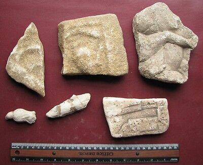 Authentic Ancient Artifact - Lot of CARVED MARBLE STONES       9645