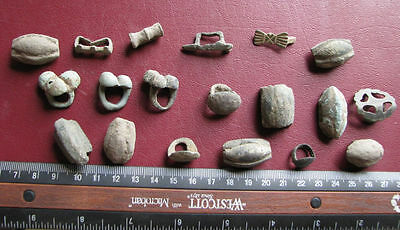 Authentic Ancient ARTIFACT - 19 HORSE BELT HARNESS MOUNTS or FITTINGS     6812