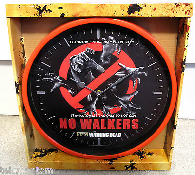 """Walking Dead 12"""" Wall Clock No Walkers AMC Zombies Just Funky Tv Red Gift Horror"""
