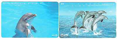 Dolphins 2 phonecards Japan.
