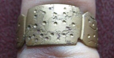 Ancient Artifact   Metal Detector Find   FINGER RING 8 3/4 US 18.75mm 9214