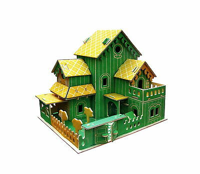 Cute House Wood building set 3D Puzzle Wooden Modelmaking model making NEW