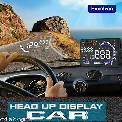 2016 Universal OBD2 II GPS HUD Heads Up Display Dashboard Digital Speed Warning