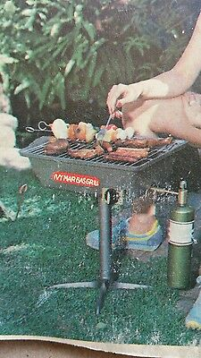 Camping cast iron gas grill
