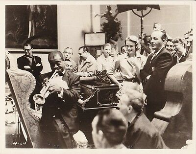 GRACE KELLY BING CROSBY LOUIS ARMSTRONG Vintage CANDID HIGH SOCIETY MGM Photo