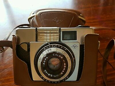 Vintage camera Agfa Silette proctor 125 with case