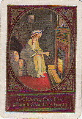 #Vintage Swap/ Playing Card-1 SINGLE WIDE - ADVERTISING- GAS WARMTH