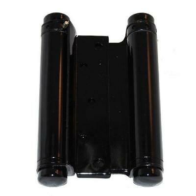 Ultra Hardware 6 Inch Hinge Double Action Spring Black 2.6mm, Pack of 2 Pairs