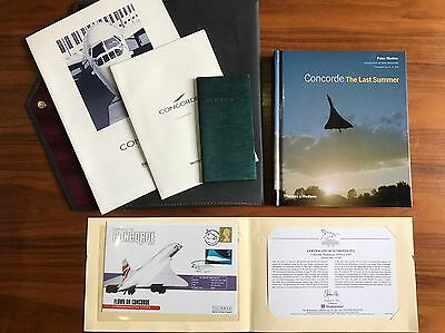 RARE Concorde Memorabilia, Including FLOWN Final Flight STAMPED Photocard.
