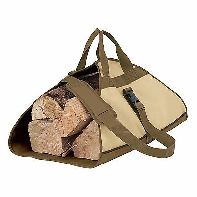 Log Carrier Holder Heavy Duty Fabric Carry Firewood Shoulder Strap Fireplace New
