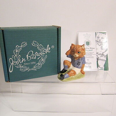 John Beswick Football Feline 'OUCH' Cat Boxed With Certificate
