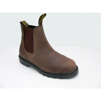 Gallop Steel Toe Cap Leather Horse Riding Jodhpur Boots  BROWN Size 3 RRP £36.99