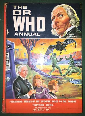 BOOK Doctor Who ANNUAL 1967 Very Rare William Hartnell Good Condition
