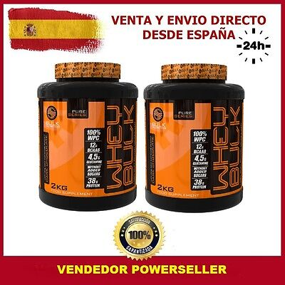 PACK 2 BOTES TOTAL 4 KG PROTEINA WHEY PRO+ 2 kg Sabor CHOCOLATE - BULK NUTRITION