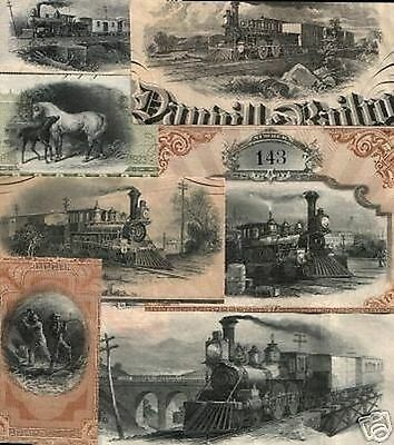 20 DIF VIGNETTES from 1880's SOUTHERN RR BONDS (NOT FULL BONDS) GREAT IMAGES 99c