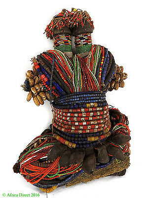 Fali Beaded Fertility Doll Cowries Twin Heads Cameroon Africa SALE WAS $390