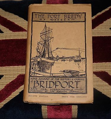Old visitors guide book of Bridport , Dorset . Adverts / Maps / Local History.