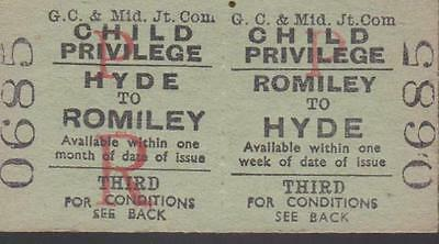 Great Central & Midland JOINT Railway Ticket ROMILEY 0685
