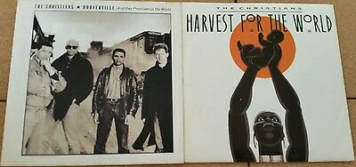 """2x THE CHRISTIANS 7""""singles inc.- Hooverville - Harvest For The World ."""