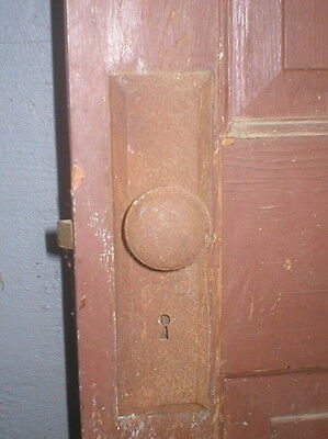 Vintage Skeleton Key Hole Door Plates Knobs Hardware And Hinges Rusted