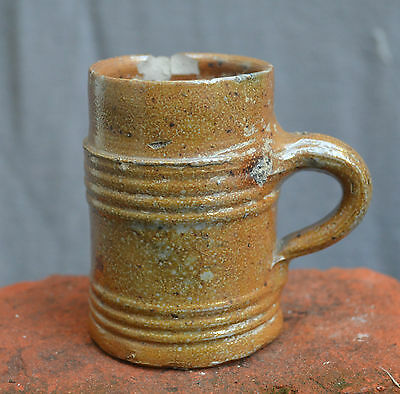Nice 16th. century German stoneware Rearen drinking cup.