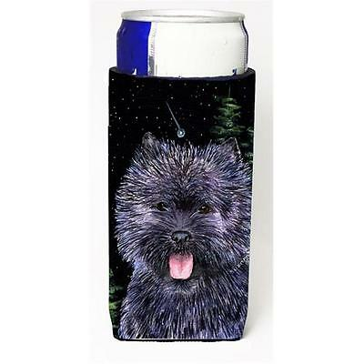 Starry Night Cairn Terrier Michelob Ultra bottle sleeves For Slim Cans 12 oz.