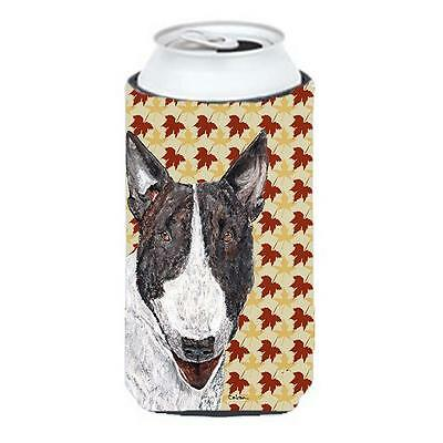 Carolines Treasures Bull Terrier Fall Leaves Tall Boy bottle sleeve Hugger
