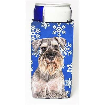 Winter Snowflakes Holiday Schnauzer Michelob Ultra bottle sleeves for slim cans