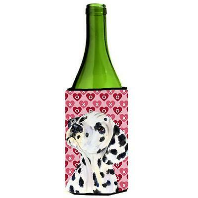 Dalmatian Hearts Love And Valentines Day Portrait Wine bottle sleeve Hugger 2...